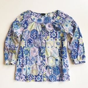 Talbots Blue Button Down Blouse LIKE NEW Size XS